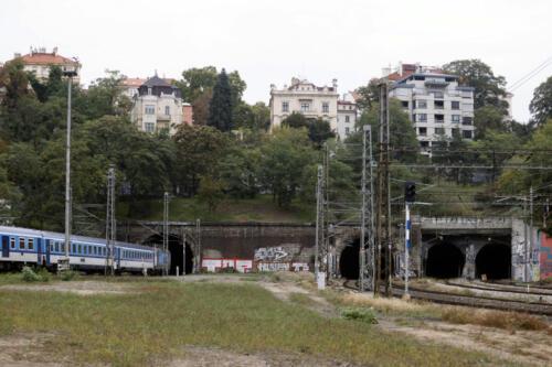 Vjezdový portál Vinohradských tunelů.