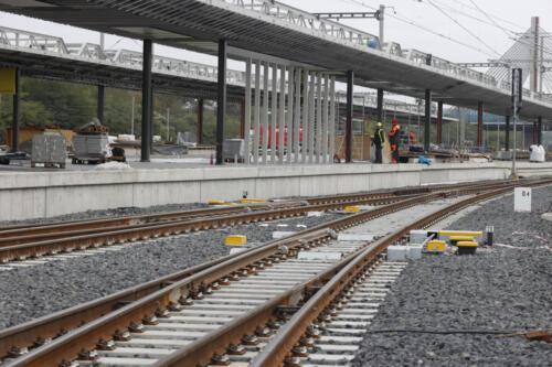 3. nástupiště železniční stanice Zahradní Město.