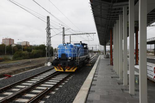 3. nástupiště železniční stanice Zahradní Město .