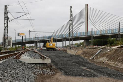 Železniční spodek koleje č. 202 Zahradní Město.