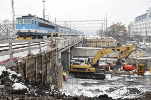 Provizorní konstrukce most ul. Bartoškova/Nad Vinným potokem