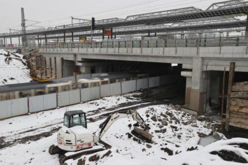Prostor po bývalých benešovských kolejích most ul.Průběžná
